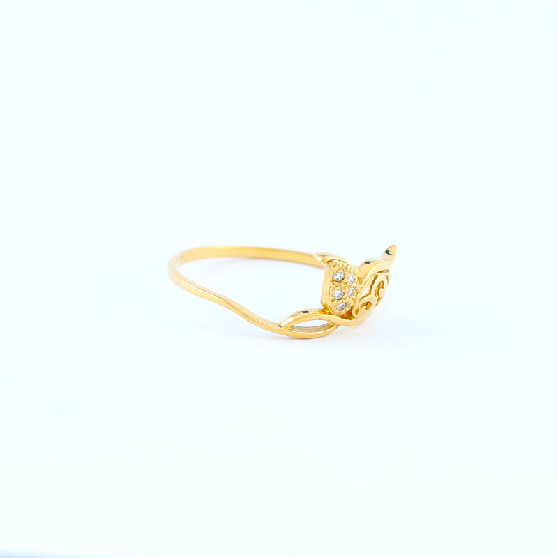 22KT YELLOW GOLD LADIES RING (RI0001022)