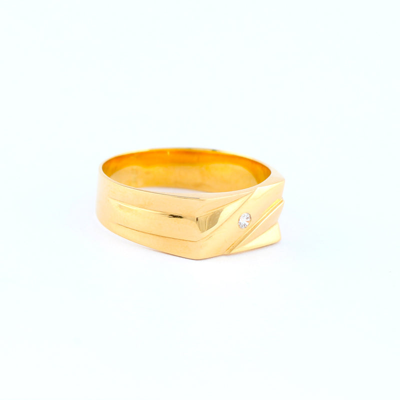 22KT YELLOW GOLD GENTS RING (RI0001338)