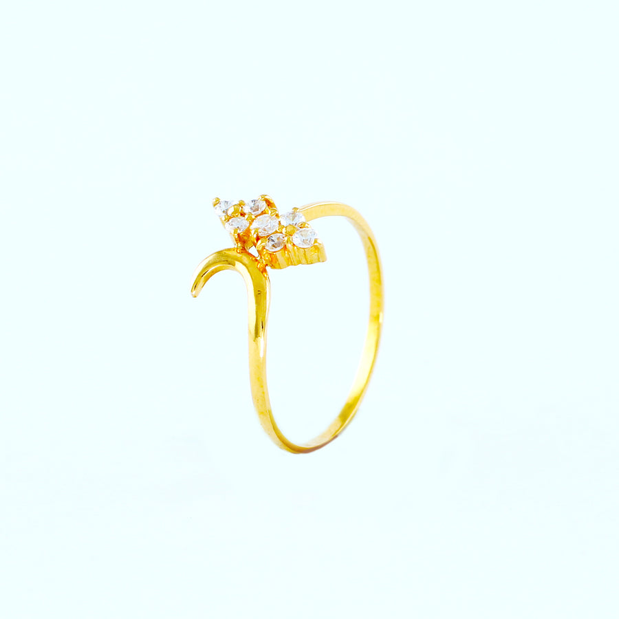 22KT YELLOW GOLD LADIES RING(RI0001475)
