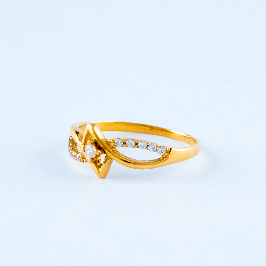 22KT YELLOW GOLD LADIES RING (RI0001479)