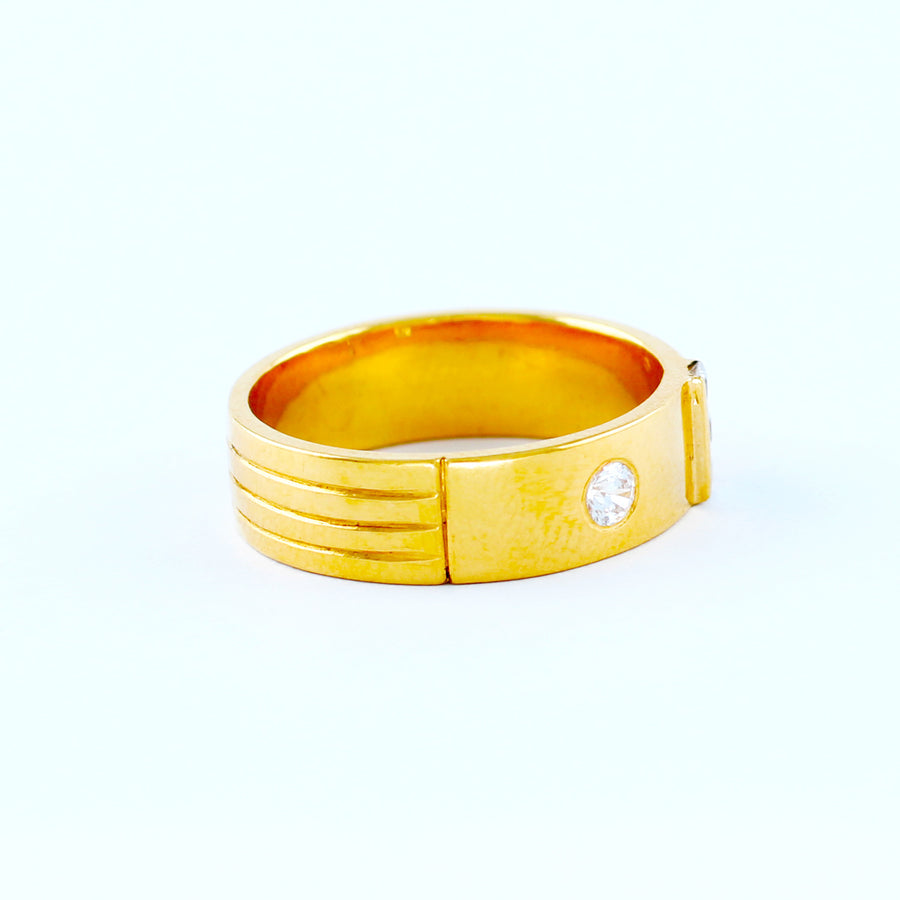 22KT YELLOW GOLD UNISEX RING (RI0001484)