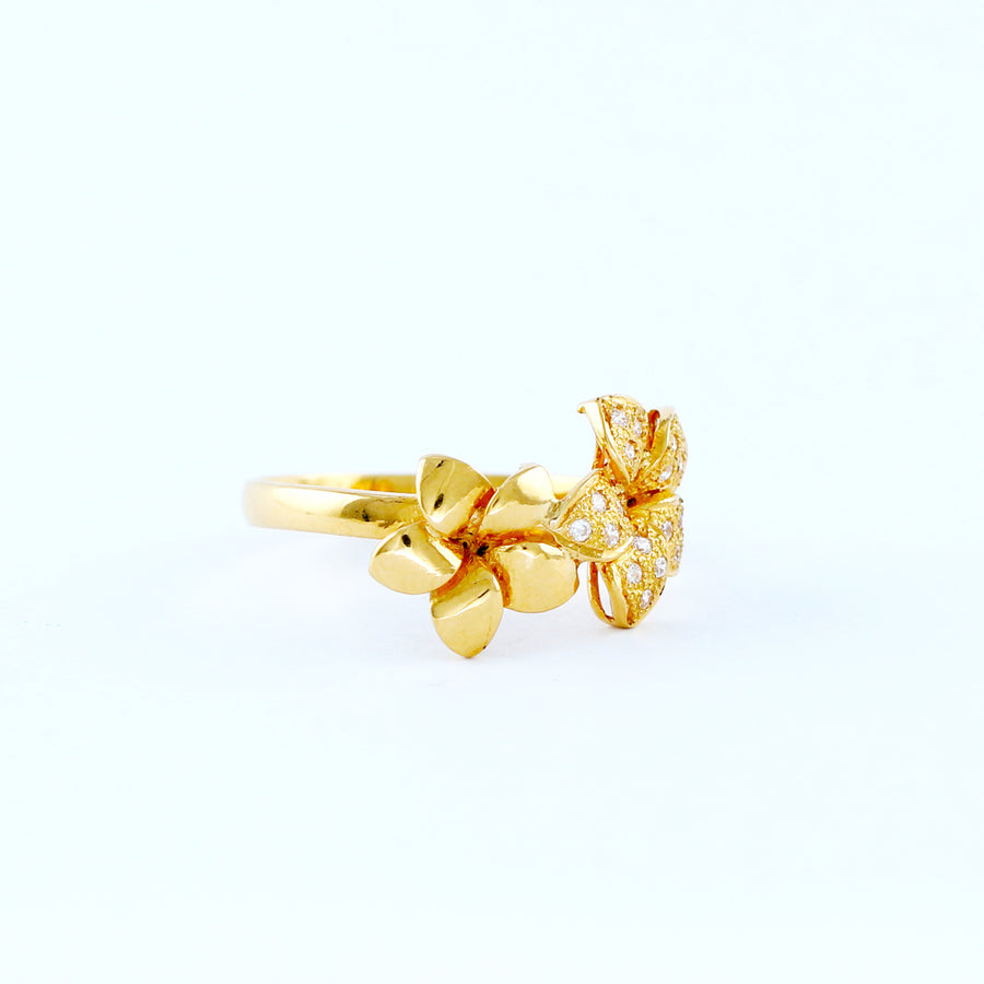 22KT YELLOW GOLD LADIES RING (RI0001536)