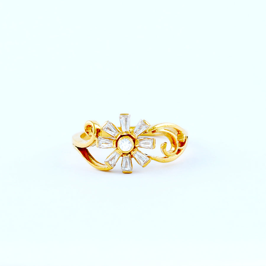 22KT YELLOW GOLD LADIES RING (RI0001537)
