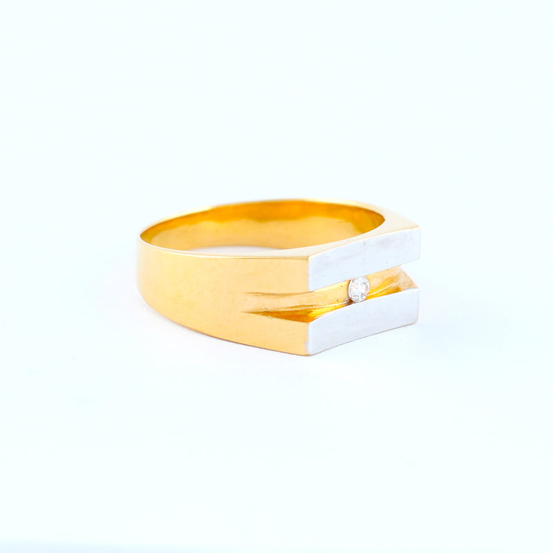 22KT YELLOW GOLD GENTS RING (RI0001547)