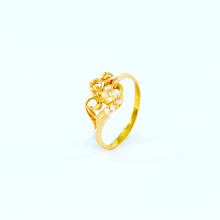 22KT YELLOW GOLD LADIES RING(RI0001561)