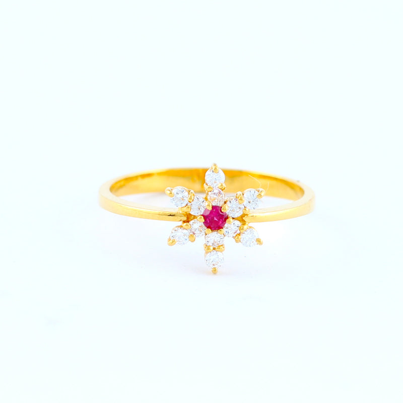 22KT YELLOW GOLD LADIES RING (RI0001657)
