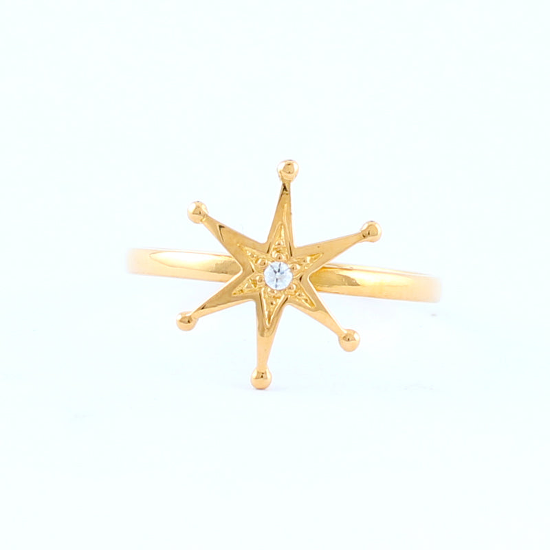22KT YELLOW GOLD LADIES RING (RI0001748)