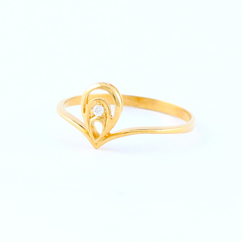 22KT YELLOW GOLD LADIES RING (RI0001759)