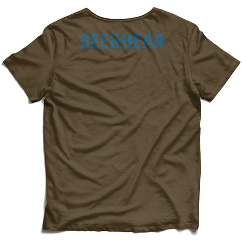 S&H Shoulder Tee - Brown