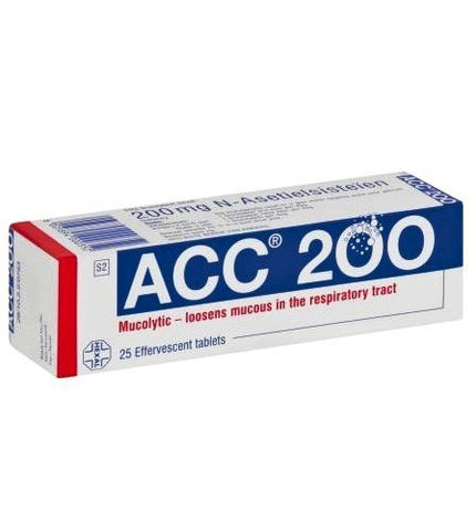 Acc 200mg Effervescent Tablets 25s