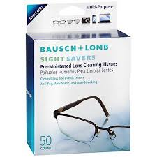 Bausch & Lomb Sightsavers Pre-moistened Tissues 50