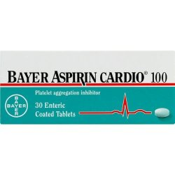 Bayer 100mg Aspirin Cardio Tablets 30 Tablets