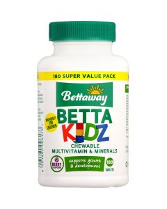 Bettaway Betta Kids Multivitamin 180 Tabs