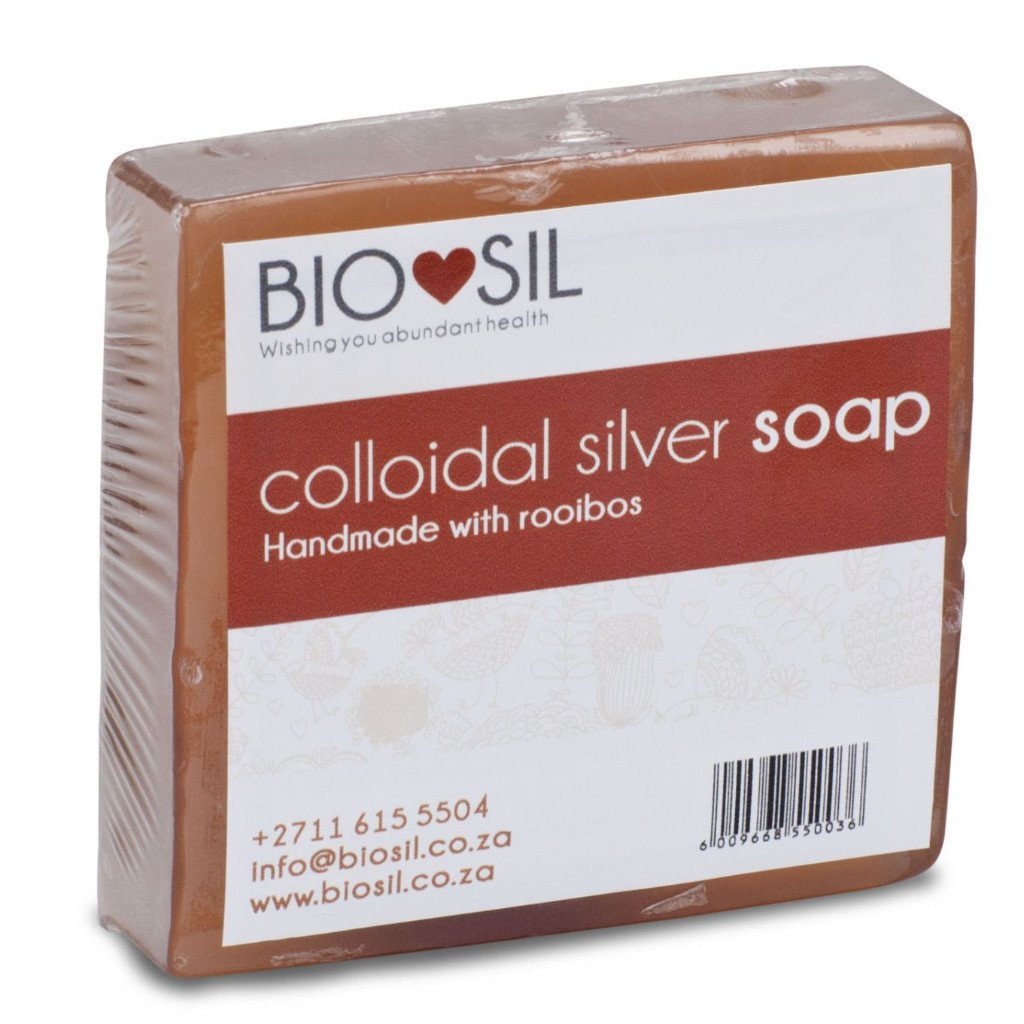 Bio-sil Colloidal Silver Soap: Acne/eycalyptus/natural/rooibos