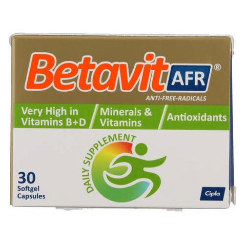 Cipla Betavit Anti Free Radicals 30 Tablets