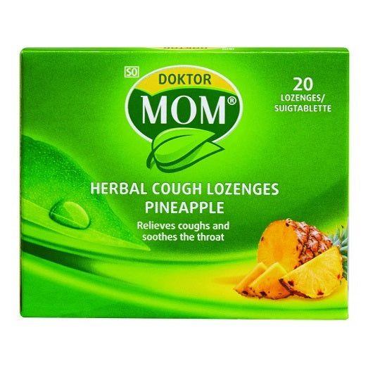 Doktor Mom Herbal Cough Lozenges 20's Pineapple