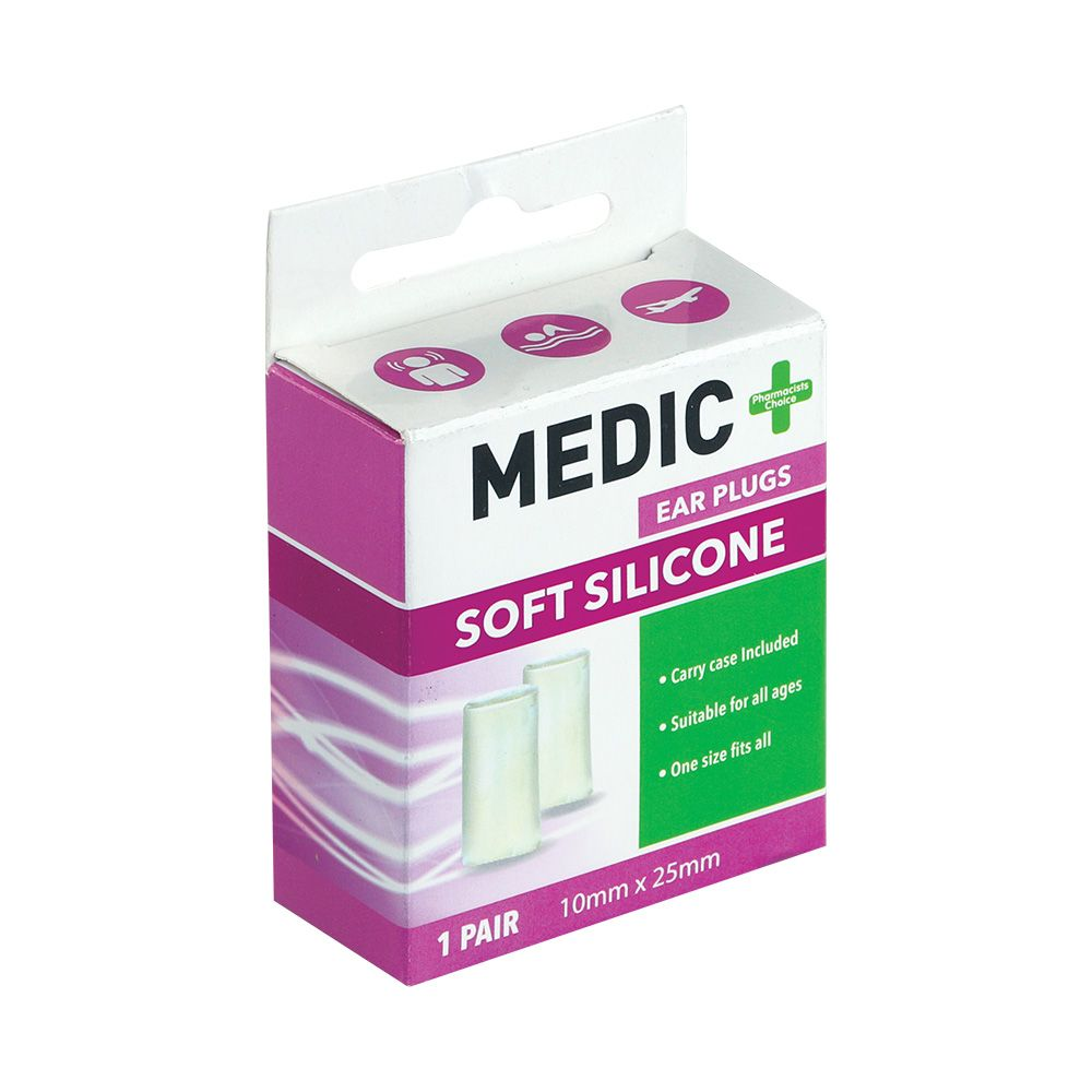 Medic Earplugs Silicone Mouldable 1 Pair