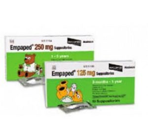 Empaped 125mg Suppositories 10s