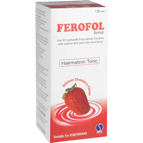 Ferofol Syrup Haematinic Tonic Strawberry 150ml