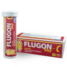 Flugon Kidz Fizzy + Vita C Orange 12 Effervescent Tablets