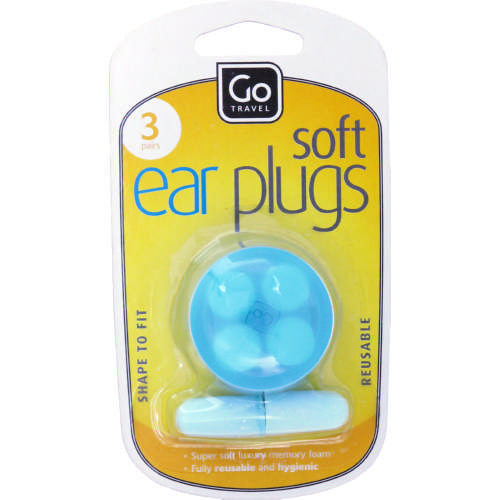 Go Travel Soft Ear Plugs 3 Pairs