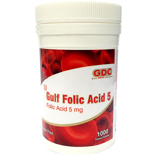 Gulf Folic Acid 5 Tablets 1000s