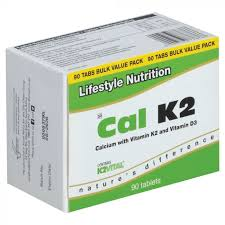 Lifestyle Nutrition Cal K2 Tablets 90s