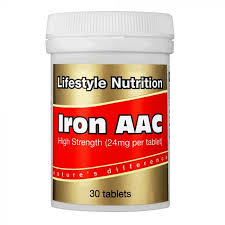 Lifestyle Nutrition Iron AAc 30 Tablets