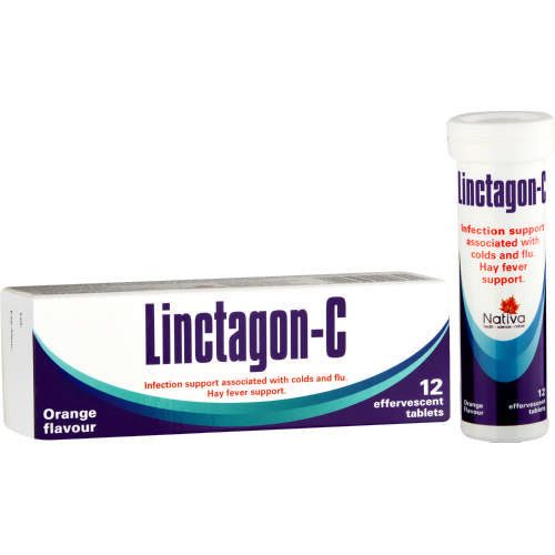 Linctagon Infection & Hayfever Support Orange 12 Effervescent Tablets