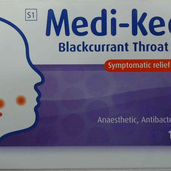 Medi-Keel A Blackcurrant Throat Lozenges 16s