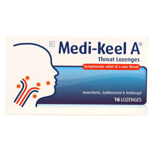 Medi-Keel A Throat Lozenges Original 16 Lozenges