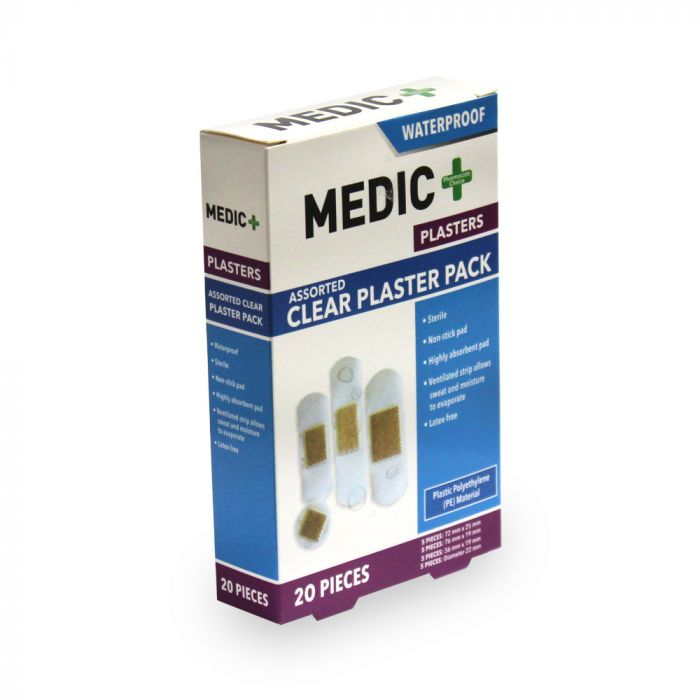 Medic Plaster Waterproof Assorted 20's