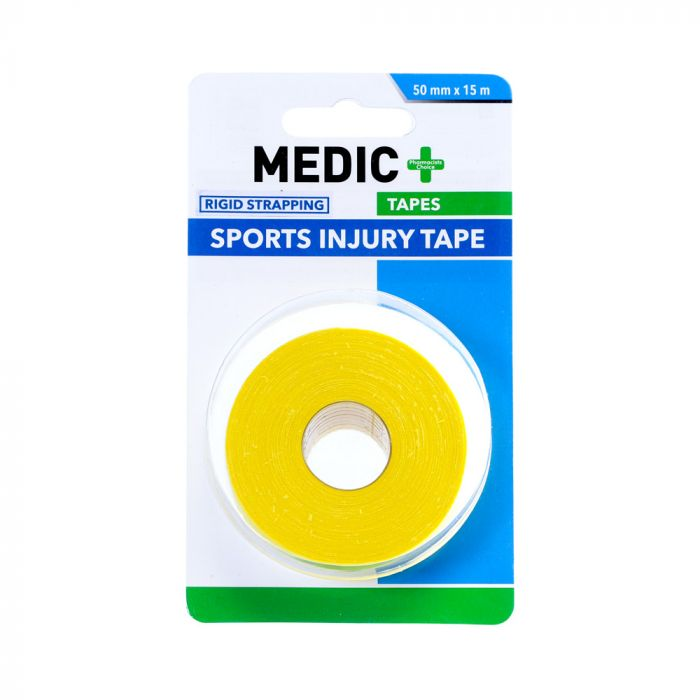 Medic Sports Injury Tape Green/yellow 5cm x 15m
