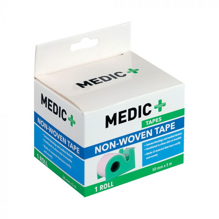 Medic Tape Non-woven With Dispenser 5cm X5m