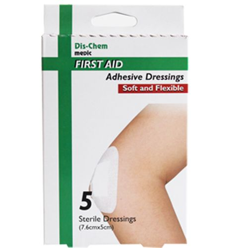 Medic Wound Dress Sterile Adhesive Pads 5's 5x7.6