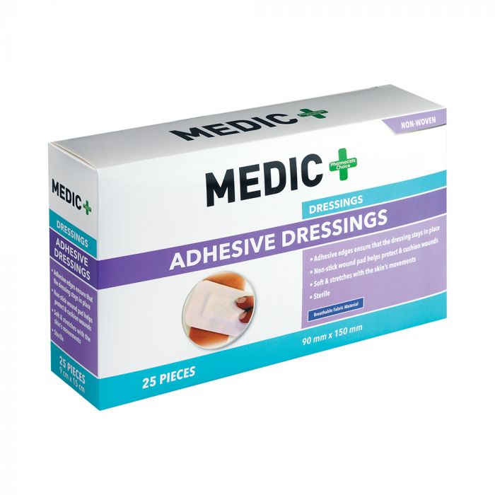 Medic Wound Dress Sterile Adhesive With Resist 9x15cm