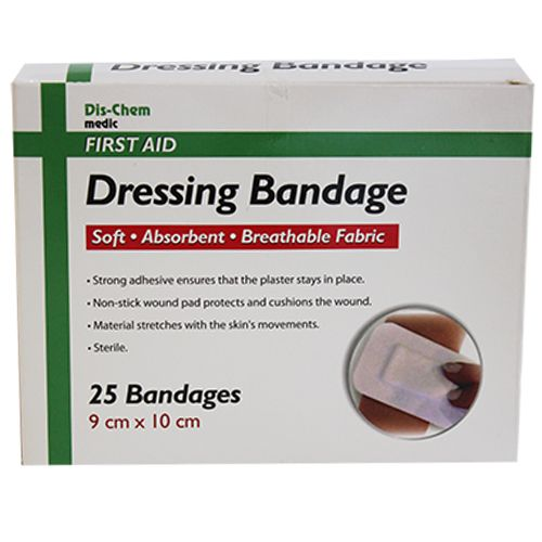 Medic Wound Dressing Sterile Adhesive 9x10cm Fabric
