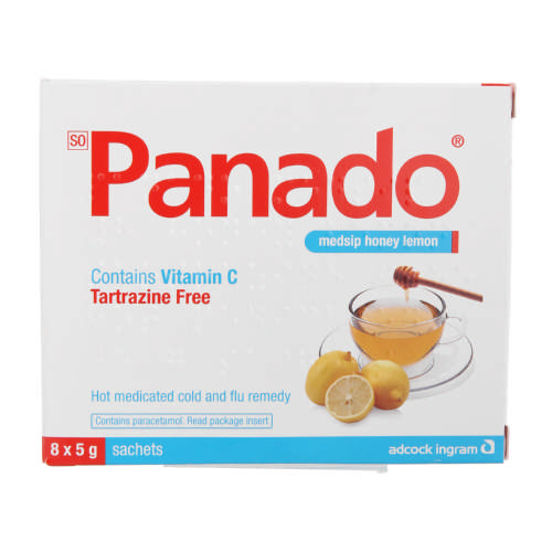 Panado Medsip Honey Lemon 8x5g Sachets