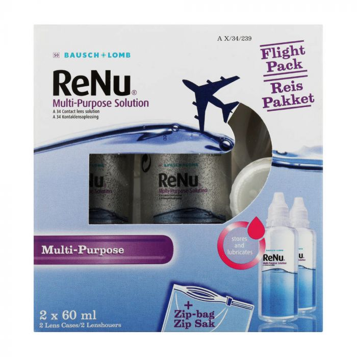 Renu Multiplus 2x60ml Travel Pack