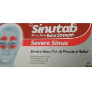 Sinutab Sinus Pain Extra Strength Tablets 24s