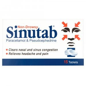 Sinutab Sinus Pain Non-Drowsy Tablets 20s