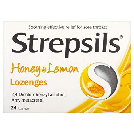 Strepsils Lozenges Honey & Lemon 24's