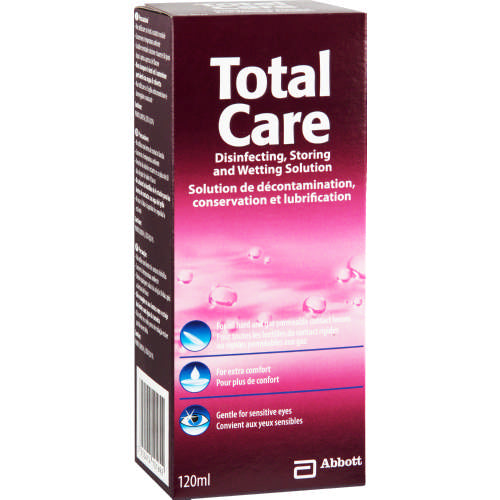 Total Care Disinfecting, Storing and Wetting Contact Solution 120ml
