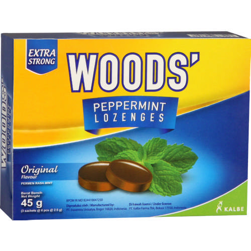 Woods Peppermint Lozenges 18 Lozenges