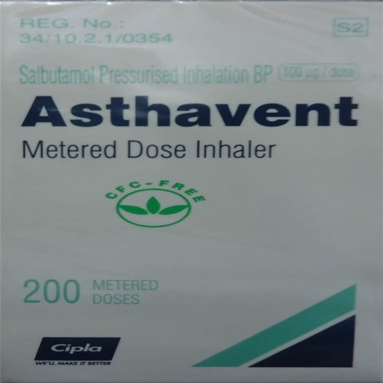 Asthavent Metered Dose Inhaler 200 Doses