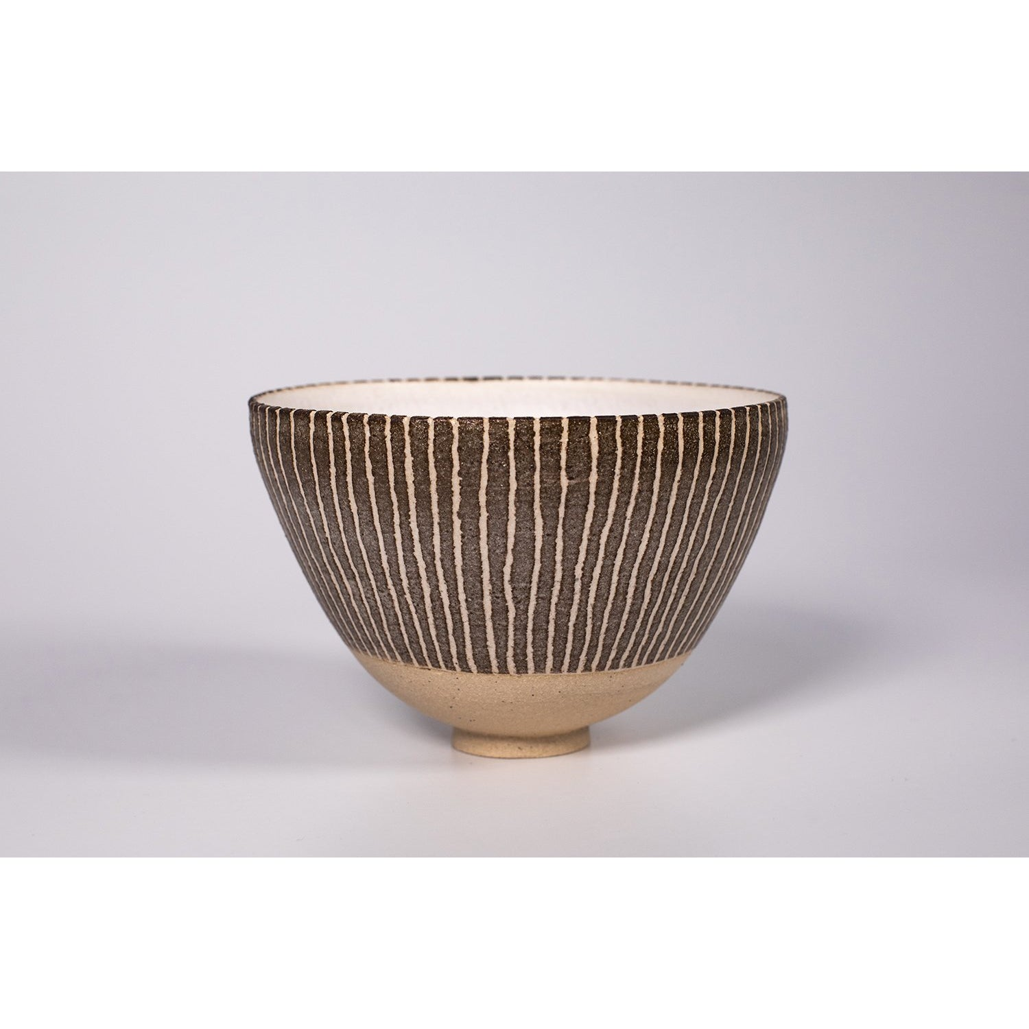 AP4 textured vessel, flecked stoneware, wheel-thrown by Ania Perkowska. Available at Padstow Gallery, Cornwall