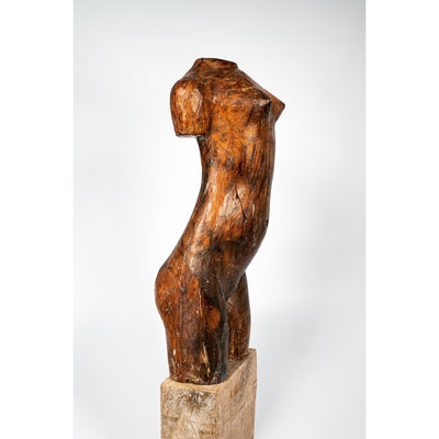 OK, Glazed terracotta standing figure on a block, by Sophie Howard, available from Padstow Gallery, Cornwall