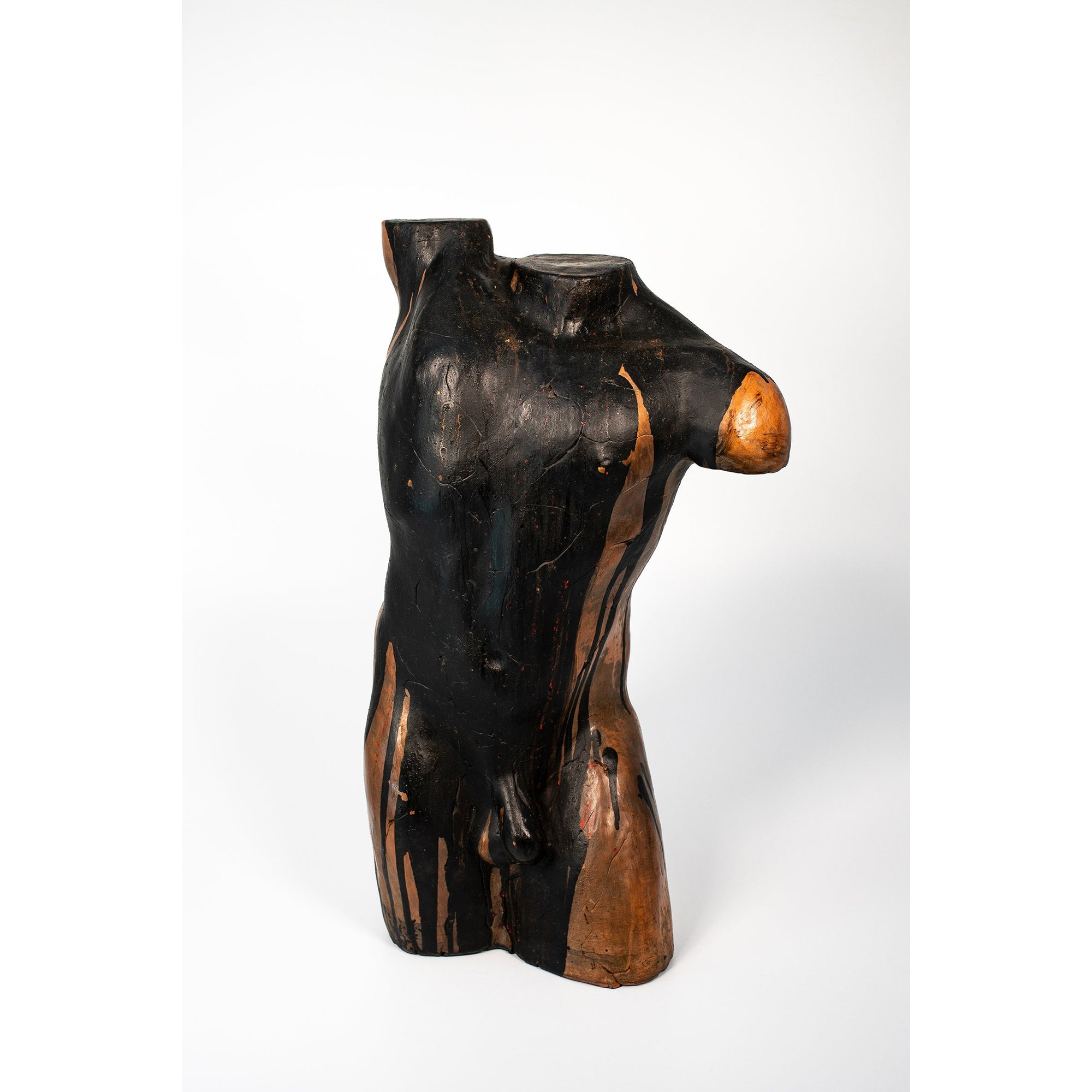 Ni, Glazed terracotta standing figure, by Sophie Howard, available from Padstow Gallery, Cornwall