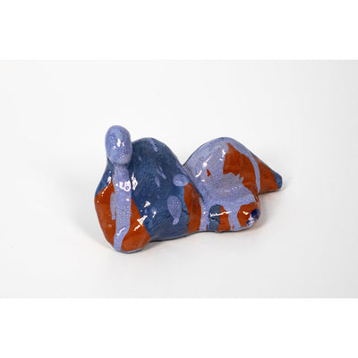 Man II, Blue glazed ceramic figure, by Sophie Howard, available from Padstow Gallery, Cornwall