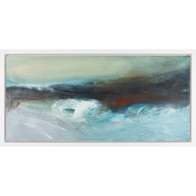 'Rolling Wave' mixed media original by Justine Lois Thorpe, available at Padstow Gallery, Cornwall